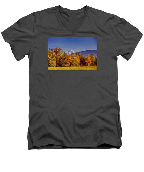 Autumn View Of Mt. Baker Men's V-Neck T-Shirt