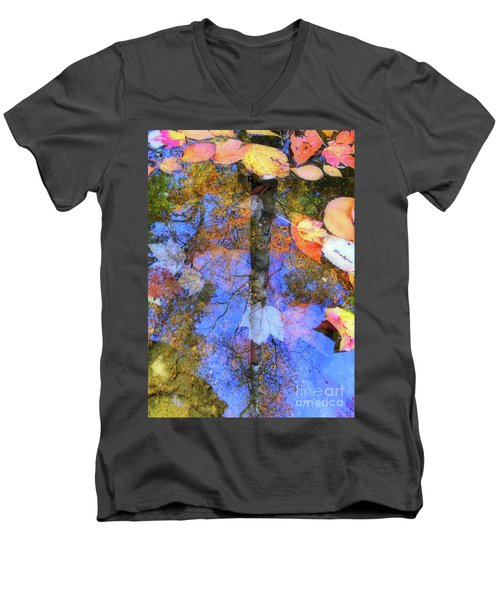 Autumn Watermark Men's V-Neck T-Shirt