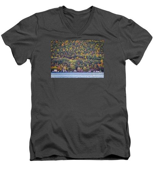 Autumn Waterside Men's V-Neck T-Shirt