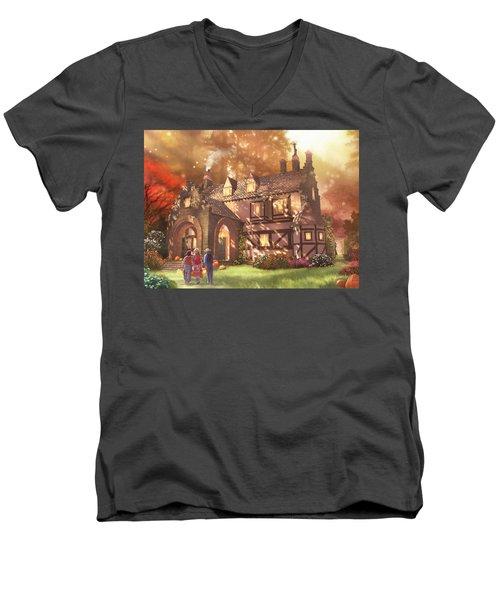 Autumnhollow Men's V-Neck T-Shirt
