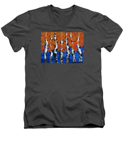 Autumns Farewell Party Men's V-Neck T-Shirt