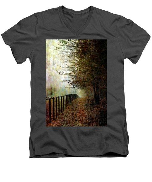 Autumns Path 7864 Idp_2 Men's V-Neck T-Shirt