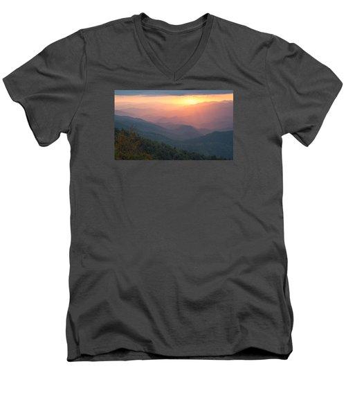 Autumn's Promise Men's V-Neck T-Shirt by Doug McPherson