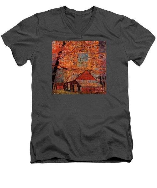 Autumn's Slate 2015 Men's V-Neck T-Shirt