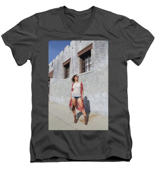 Ava Men's V-Neck T-Shirt by Viktor Savchenko