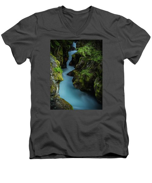 Avalanche Creek- Glacier National Park Men's V-Neck T-Shirt