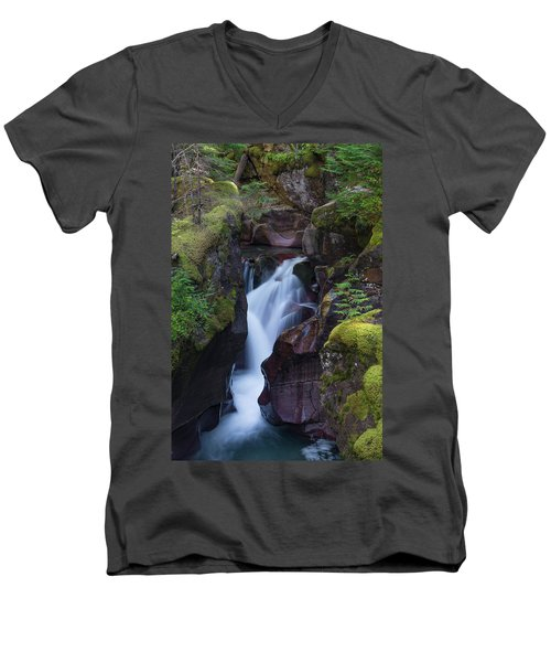 Men's V-Neck T-Shirt featuring the photograph Avalanche Gorge 3 by Gary Lengyel