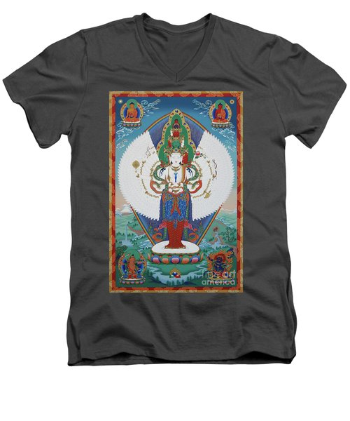 Avalokiteshvara Lord Of Compassion Men's V-Neck T-Shirt