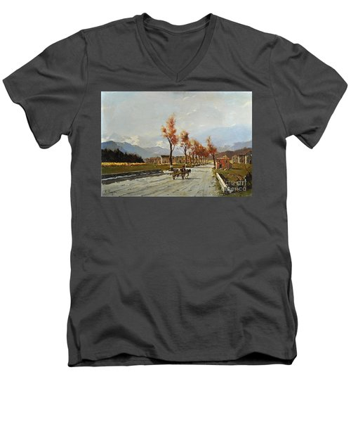 Avellino's Landscape  Men's V-Neck T-Shirt
