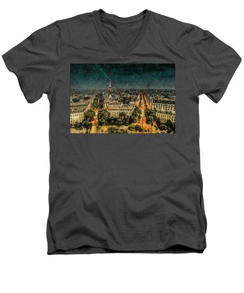 Paris, France - Avenue Kleber Men's V-Neck T-Shirt