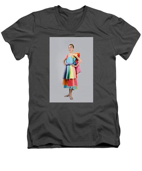 Aviva In Patio Umbrella Dress Men's V-Neck T-Shirt