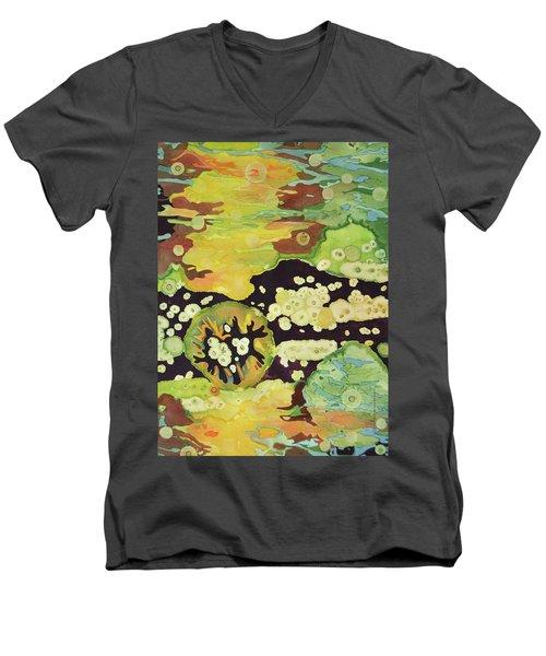 Awakening Men's V-Neck T-Shirt by Lynda Hoffman-Snodgrass