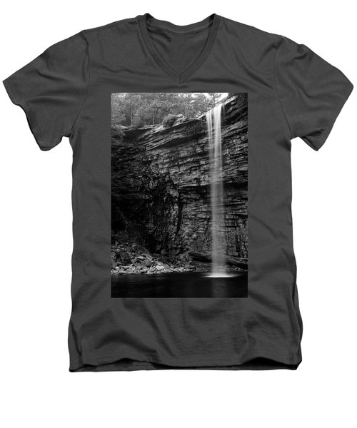 Awosting Falls In Spring #4 Men's V-Neck T-Shirt by Jeff Severson