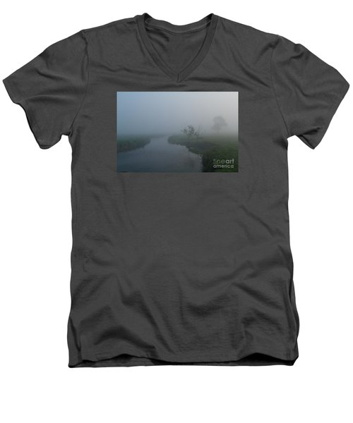 Men's V-Neck T-Shirt featuring the photograph Axe In The Mist by Gary Bridger