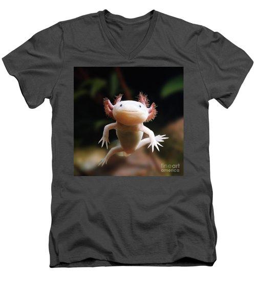 Axolotl Face Men's V-Neck T-Shirt