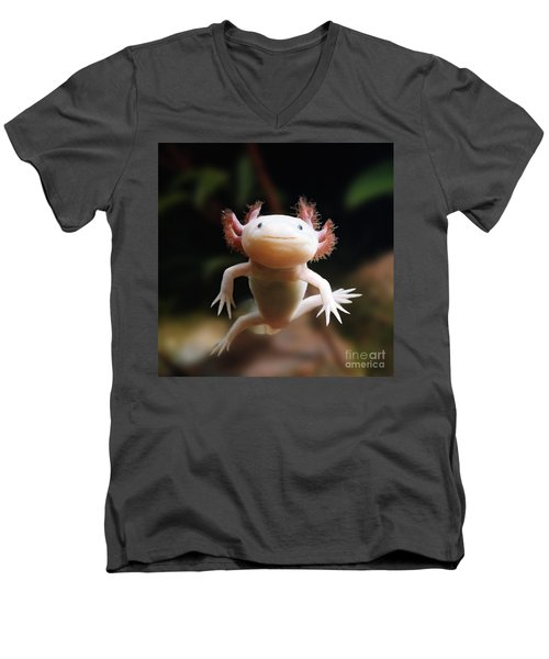 Axolotl Face Men's V-Neck T-Shirt
