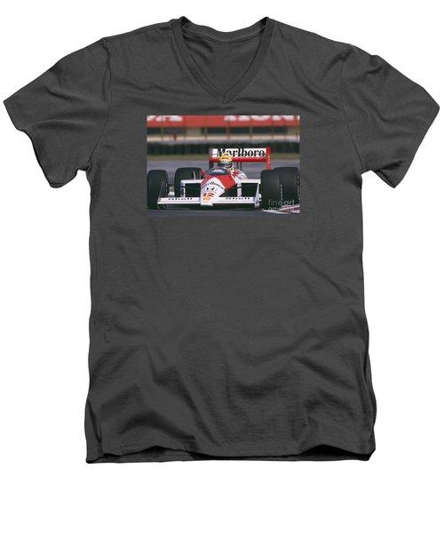 Ayrton Senna. 1988 Mexican Grand Prix Men's V-Neck T-Shirt