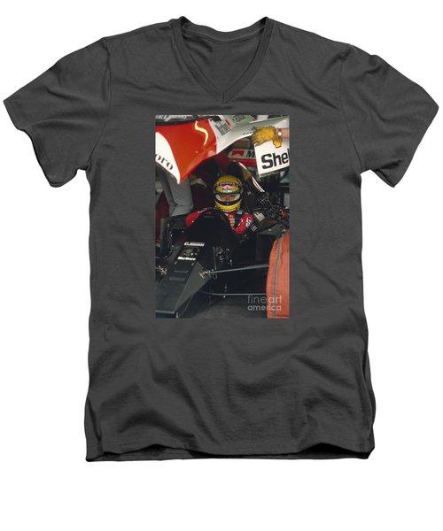 Ayrton Senna. 1990 Italian Grand Prix Men's V-Neck T-Shirt
