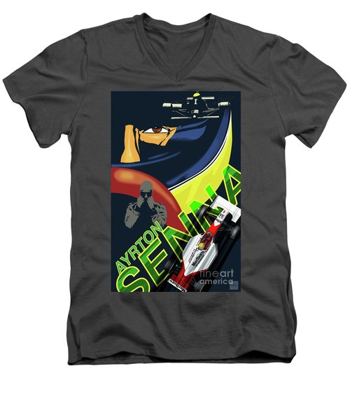 Ayrton Senna Men's V-Neck T-Shirt
