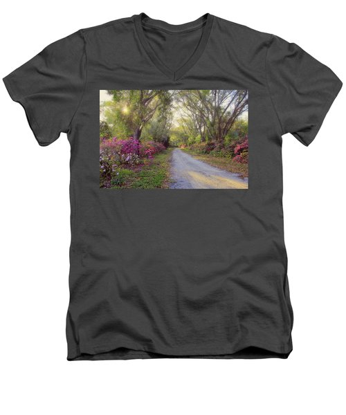 Azalea Lane By H H Photography Of Florida Men's V-Neck T-Shirt