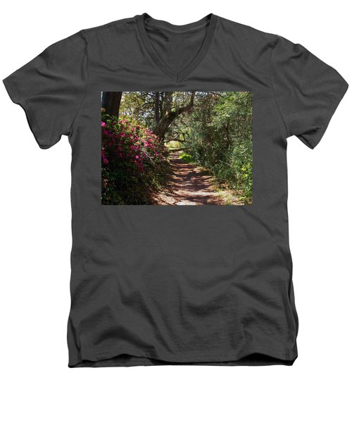 Azalea Path  Men's V-Neck T-Shirt