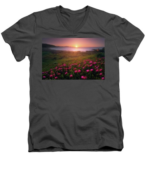 Azkorri In Springtime Men's V-Neck T-Shirt