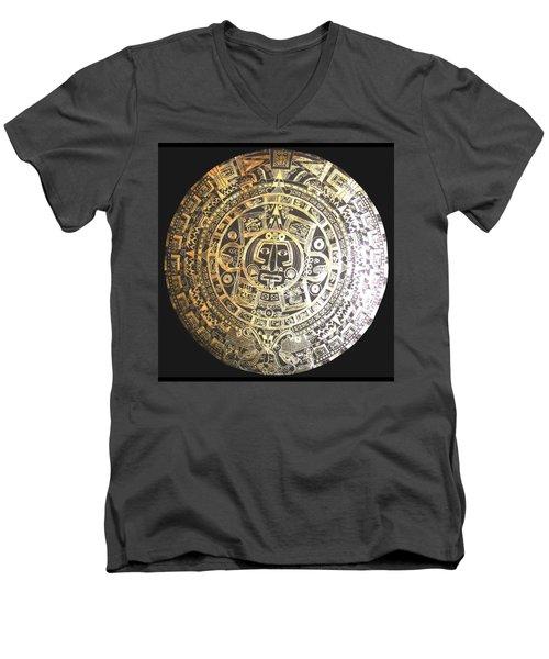 Aztec Calendar Men's V-Neck T-Shirt