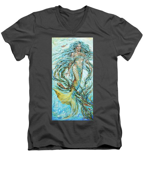 Azure Locks Men's V-Neck T-Shirt