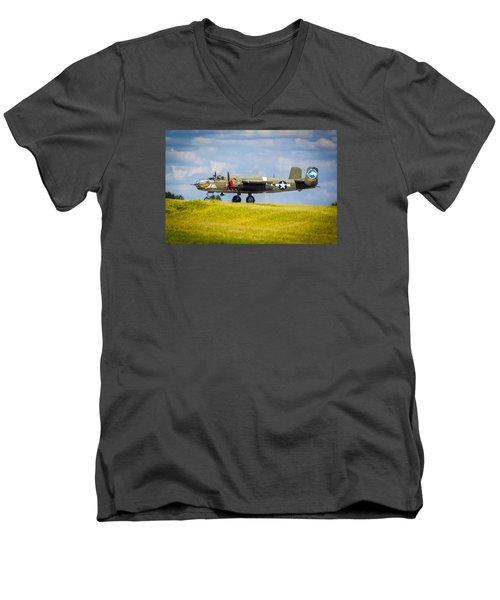 B-25 Landing Original Men's V-Neck T-Shirt