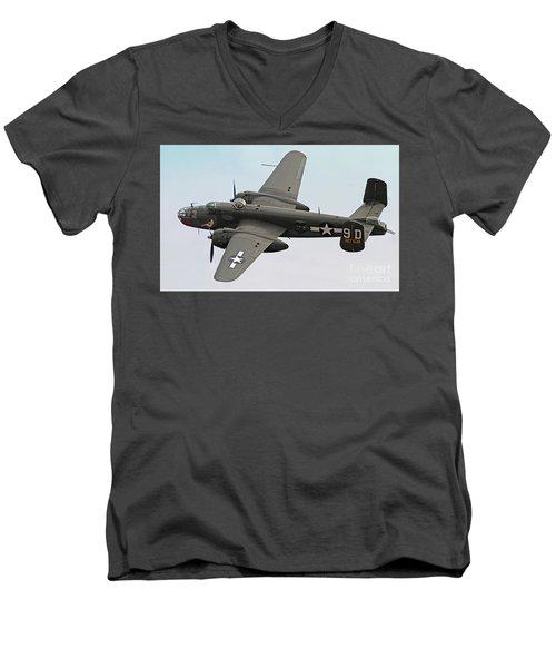 B-25 Mitchell Bomber Aircraft Men's V-Neck T-Shirt