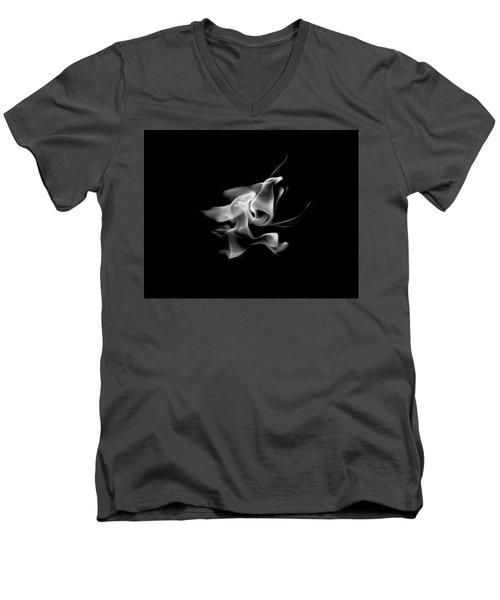 B/w Flame 5289 Men's V-Neck T-Shirt