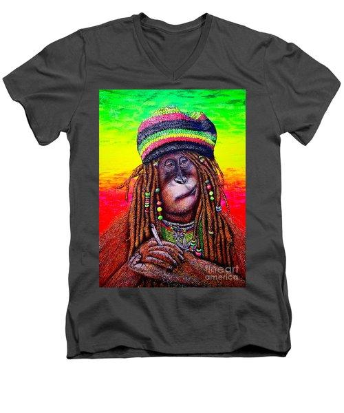 B.#2 Men's V-Neck T-Shirt by Viktor Lazarev