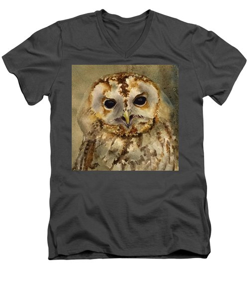 Baby Barred Owl Men's V-Neck T-Shirt