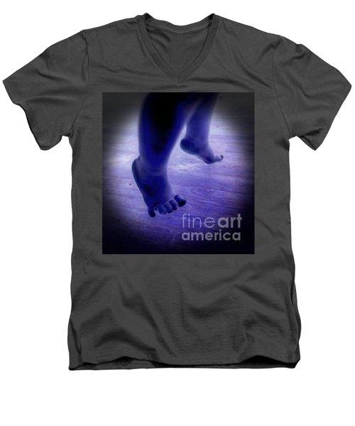 Baby Blu Dancing Royal Feet Men's V-Neck T-Shirt by Talisa Hartley