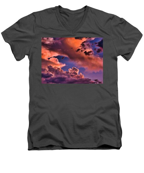 Baby Dragon's Fledgling Flight Men's V-Neck T-Shirt
