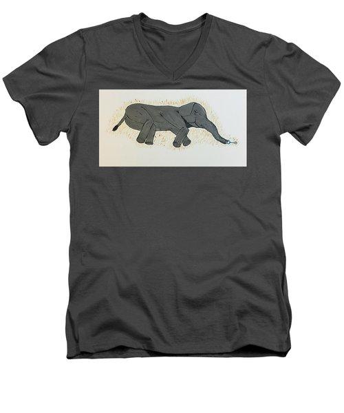 Baby Elephant  Men's V-Neck T-Shirt