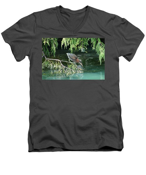 Baby Out On A Limb Men's V-Neck T-Shirt