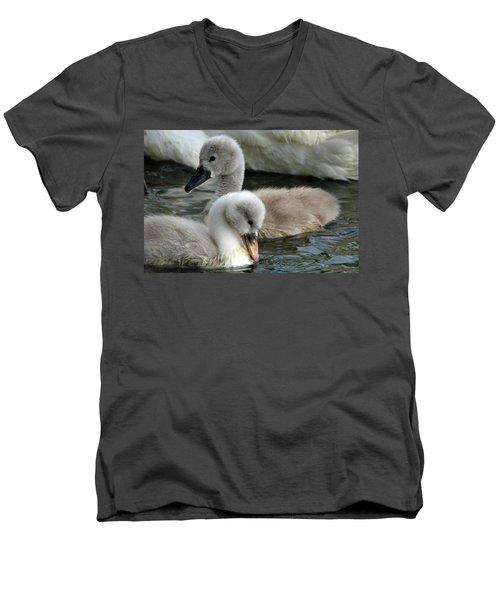 Babys Men's V-Neck T-Shirt by David Stasiak