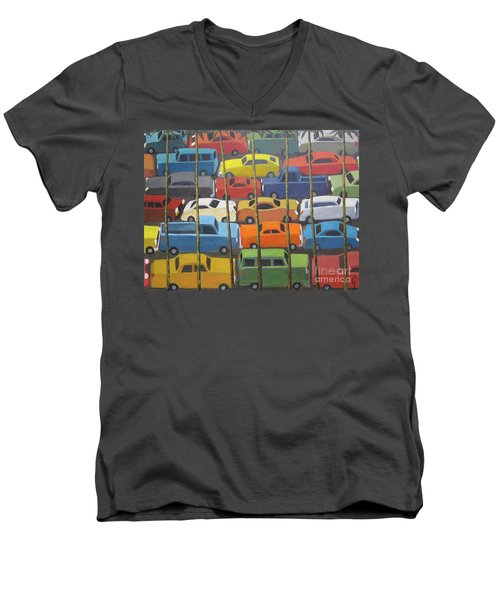 Back And Forth Men's V-Neck T-Shirt by Glenn Quist
