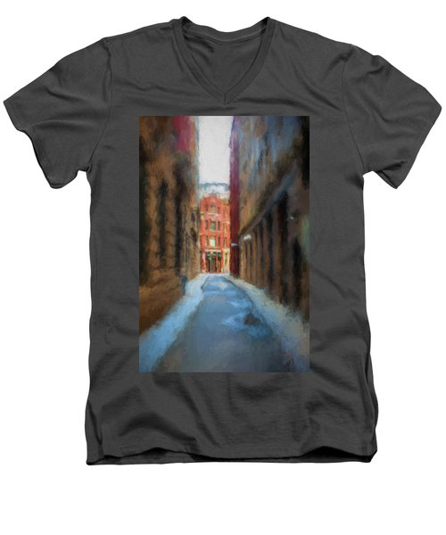 Back Bay Boston Men's V-Neck T-Shirt