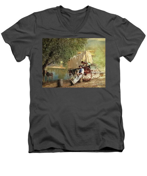 Back Country Camp Out Men's V-Neck T-Shirt