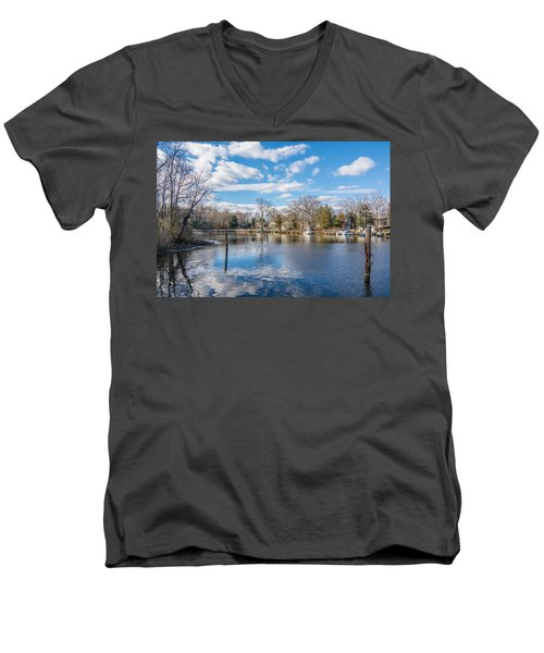 Men's V-Neck T-Shirt featuring the photograph Back Creek by Charles Kraus