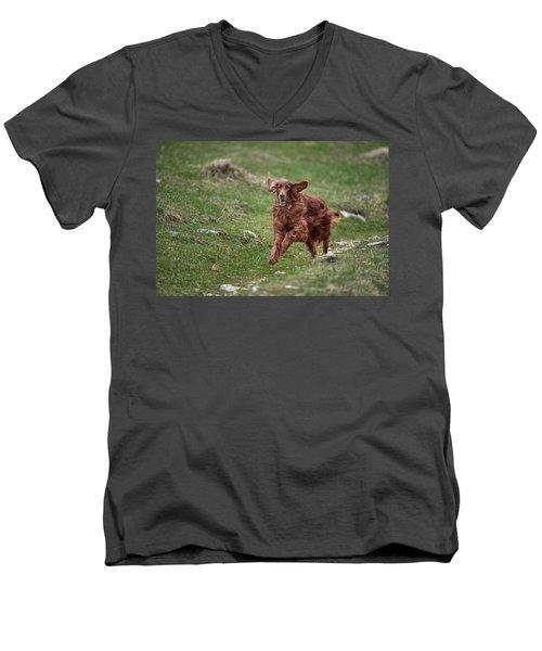 Back In Game Men's V-Neck T-Shirt by Robert Krajnc
