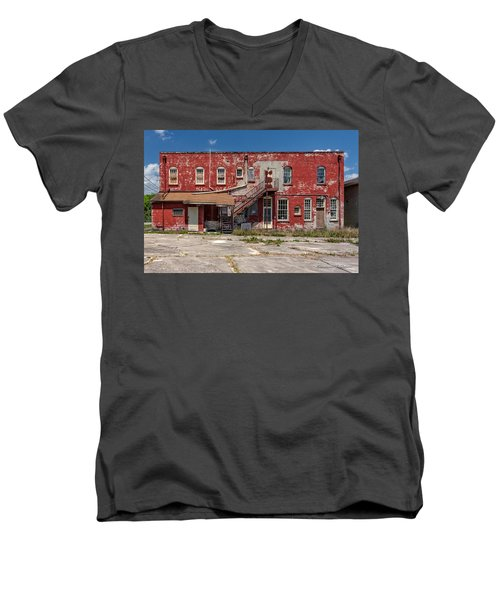 Men's V-Neck T-Shirt featuring the photograph Back Lot by Christopher Holmes