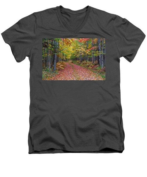 Back Road Color Tour  Men's V-Neck T-Shirt