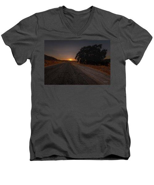 Back Road From Bradley Men's V-Neck T-Shirt