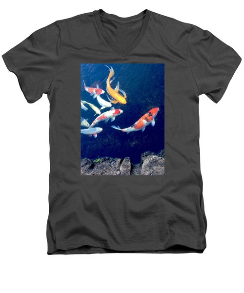 Back To School Men's V-Neck T-Shirt by Russell Keating