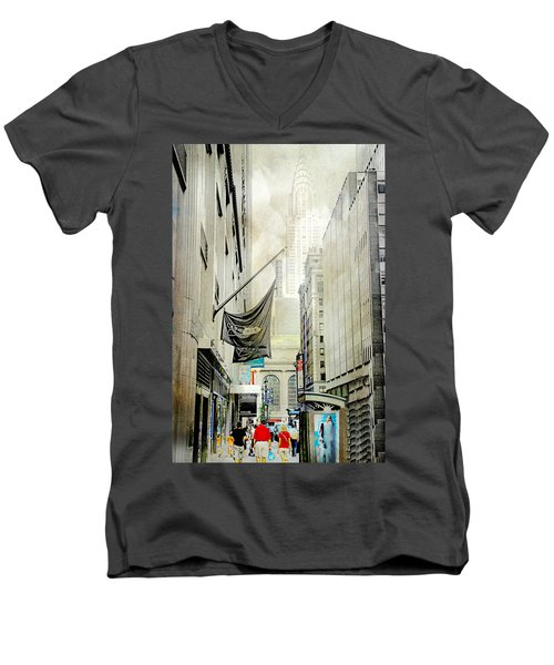Men's V-Neck T-Shirt featuring the photograph Back To You by Diana Angstadt