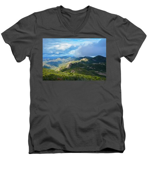 Backbone Trail Santa Monica Mountains Men's V-Neck T-Shirt