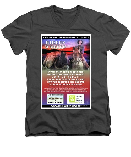 Backcountry Horsemen Join Us Poster II Men's V-Neck T-Shirt